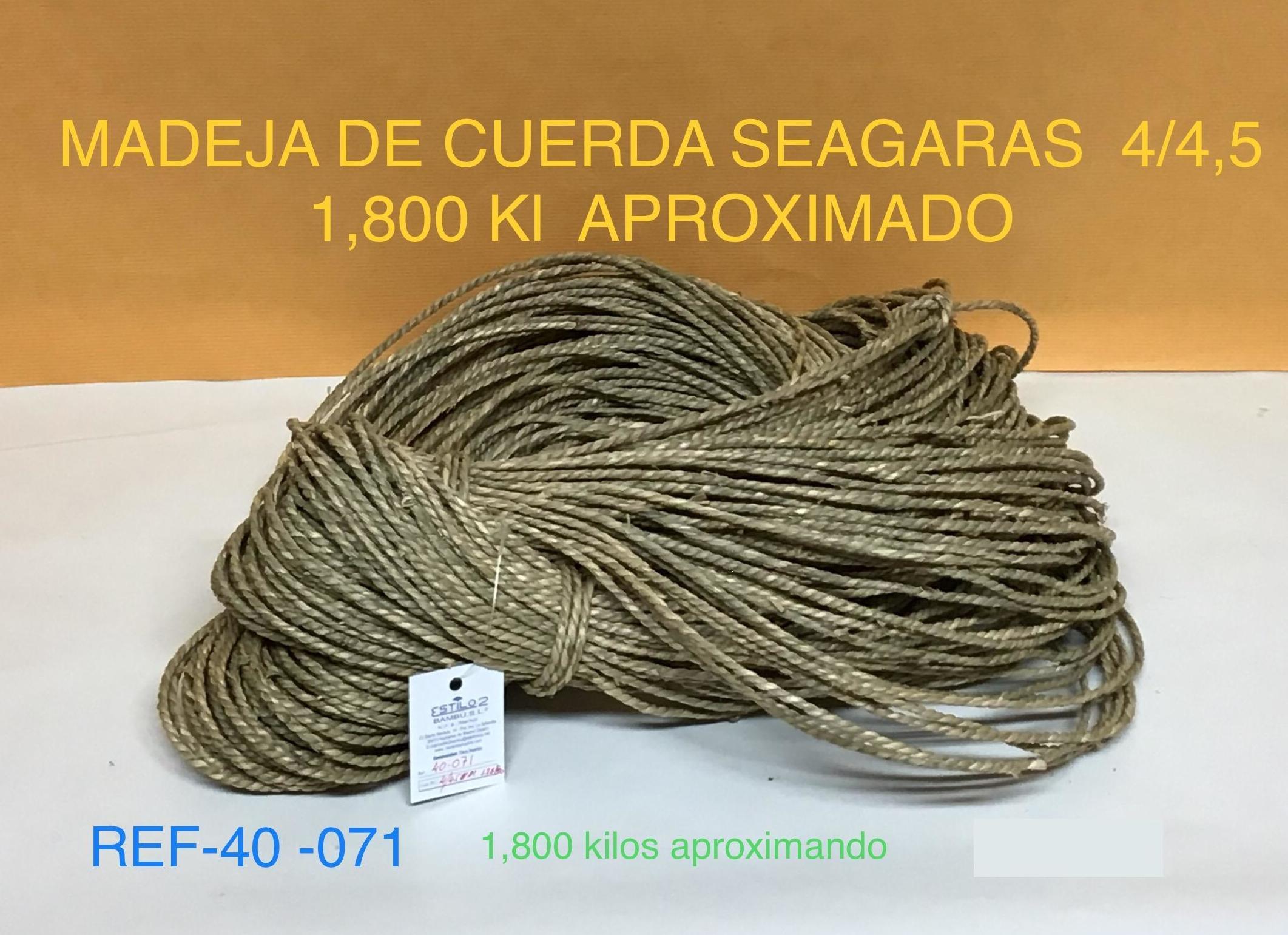 SEAGRAS MADEJA  1,800 APROX 4/4,5 MM