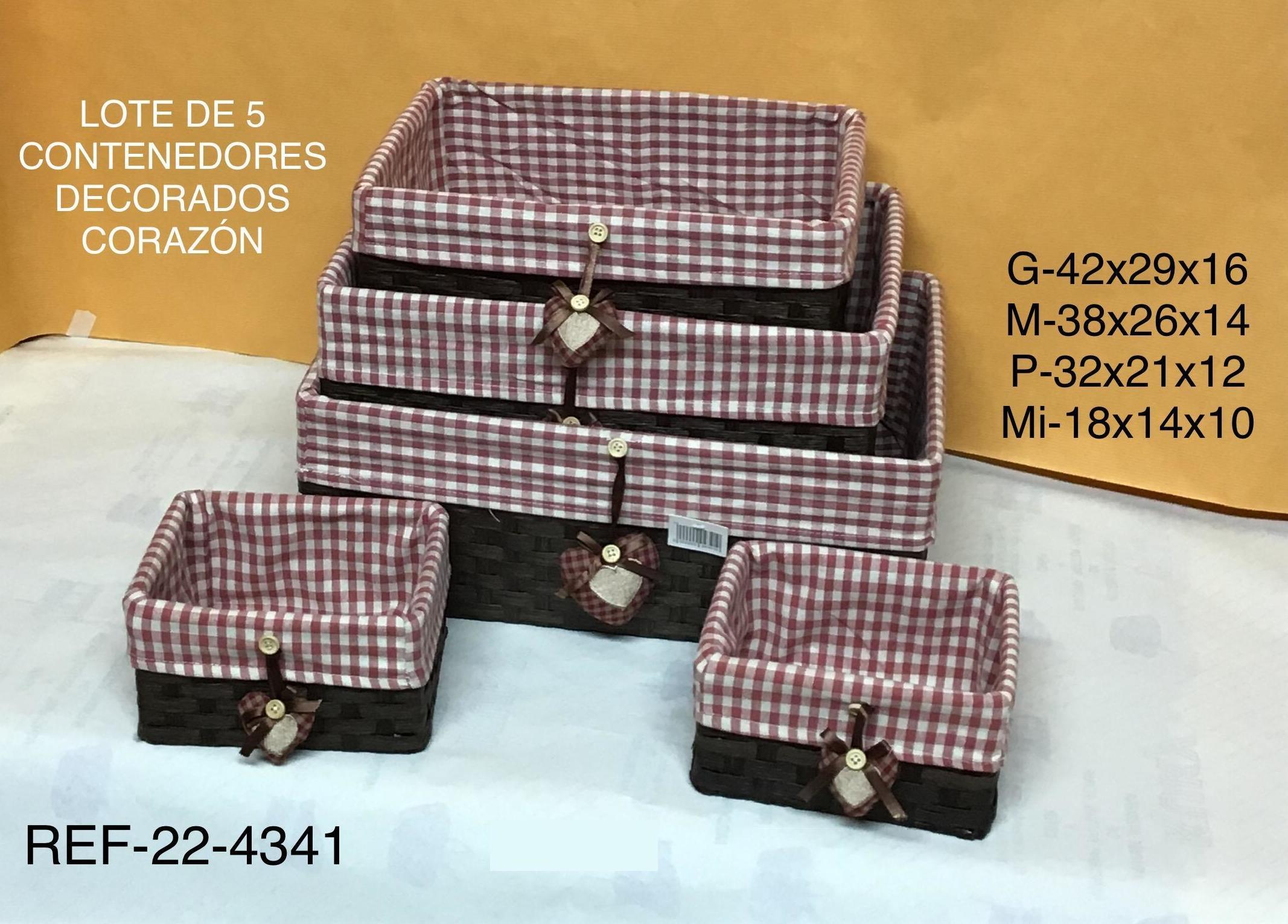 22-4341 SET 5 CAJONES MARRON F/VICHY