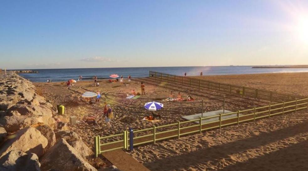zona de playa habilitada para perros