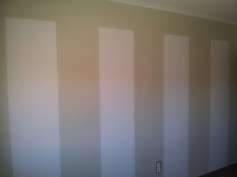 Pintura de pared con franjas verticales