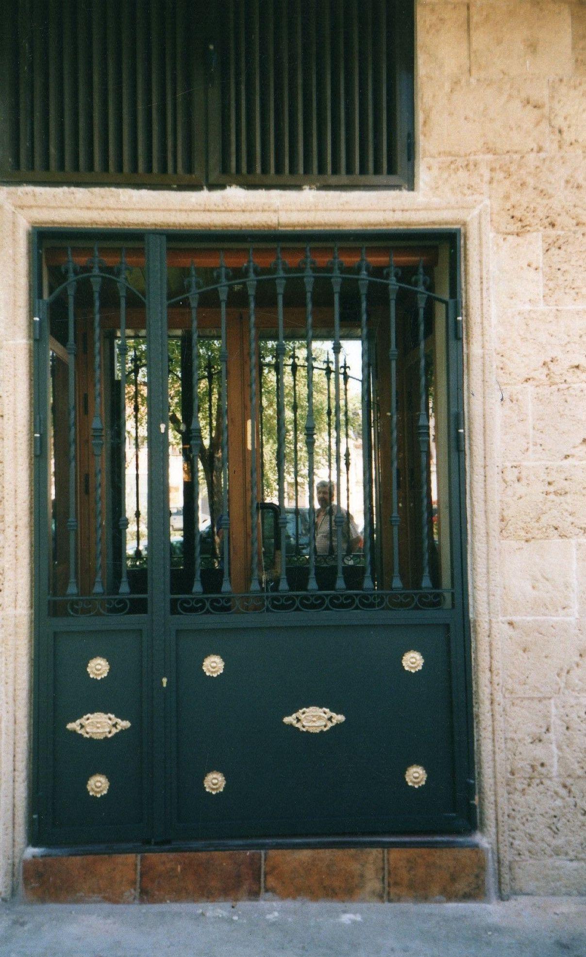 Puerta de cancela en forja