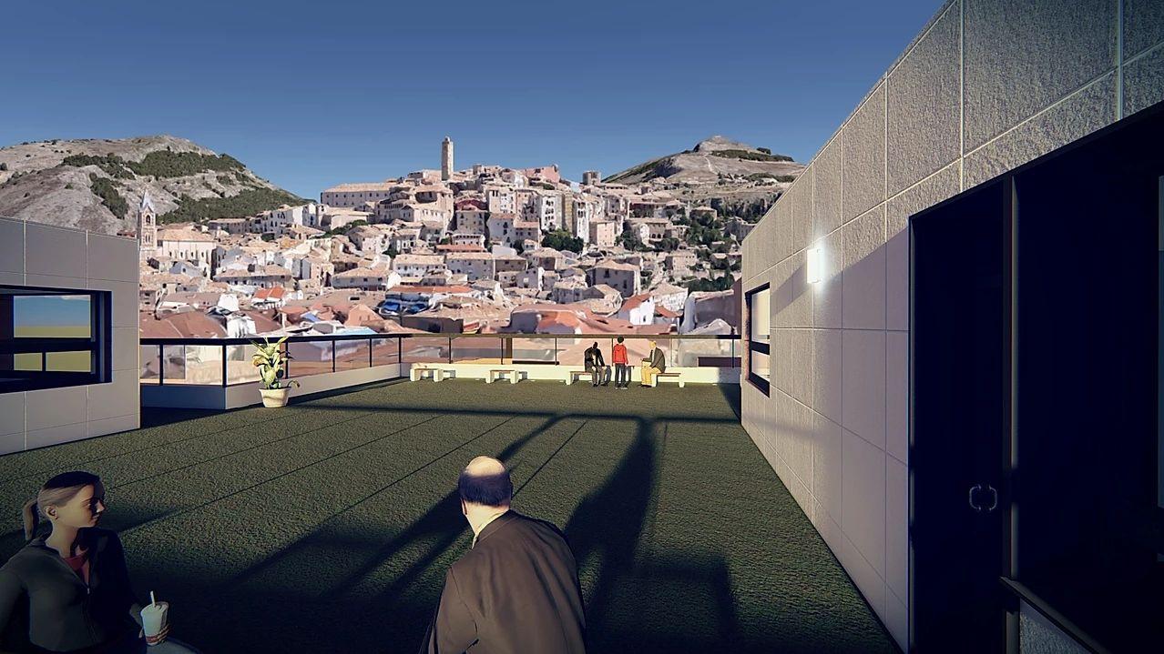 El Parador de San Julián, vistas del Casco Antiguo