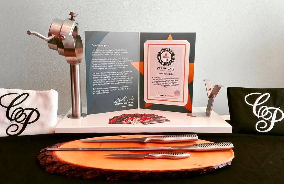 Certificado oficial de Récord Guiness