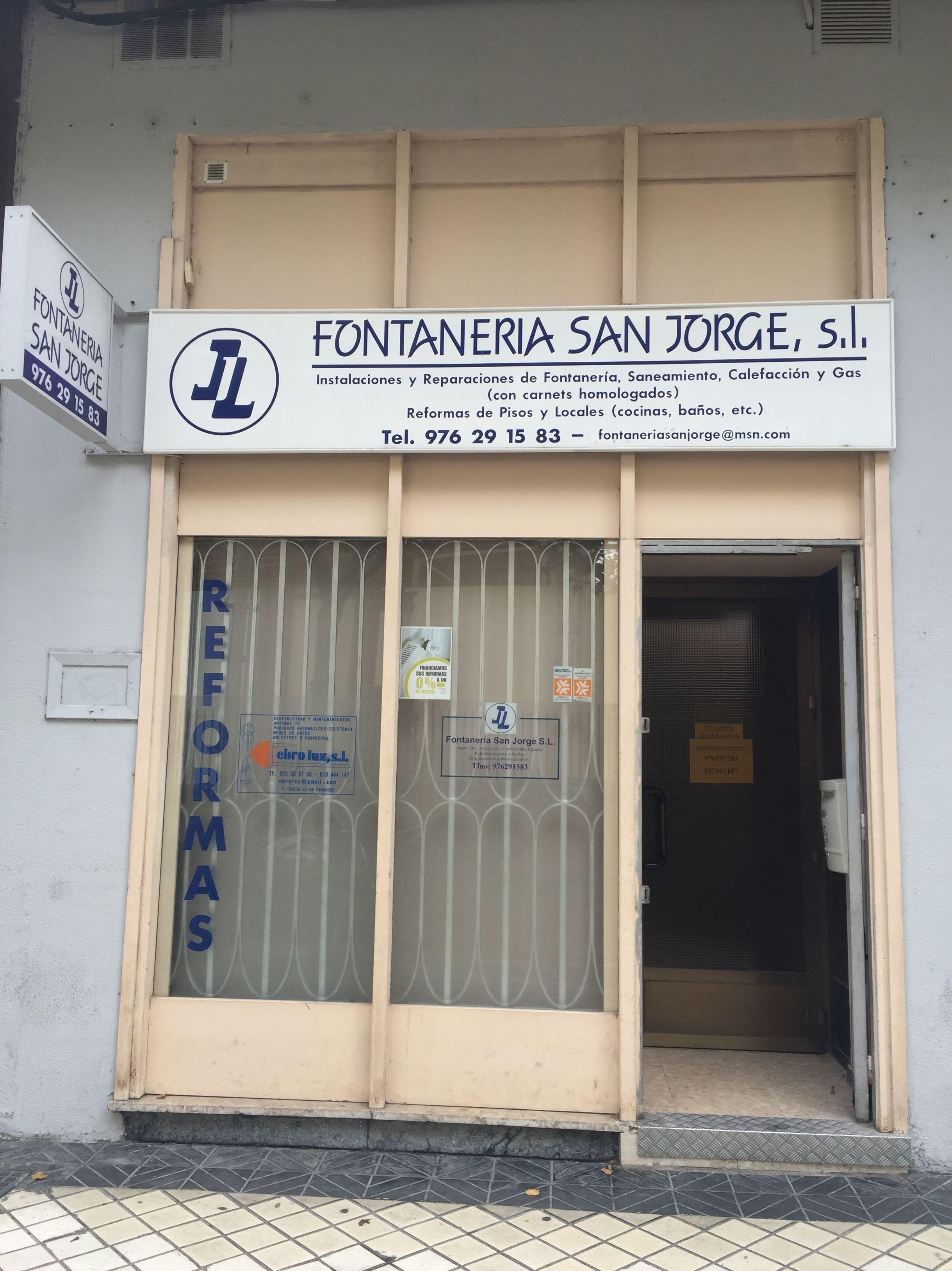 Foto 5 de Fontaneros en Zaragoza | Fontanería San Jorge, S.L.