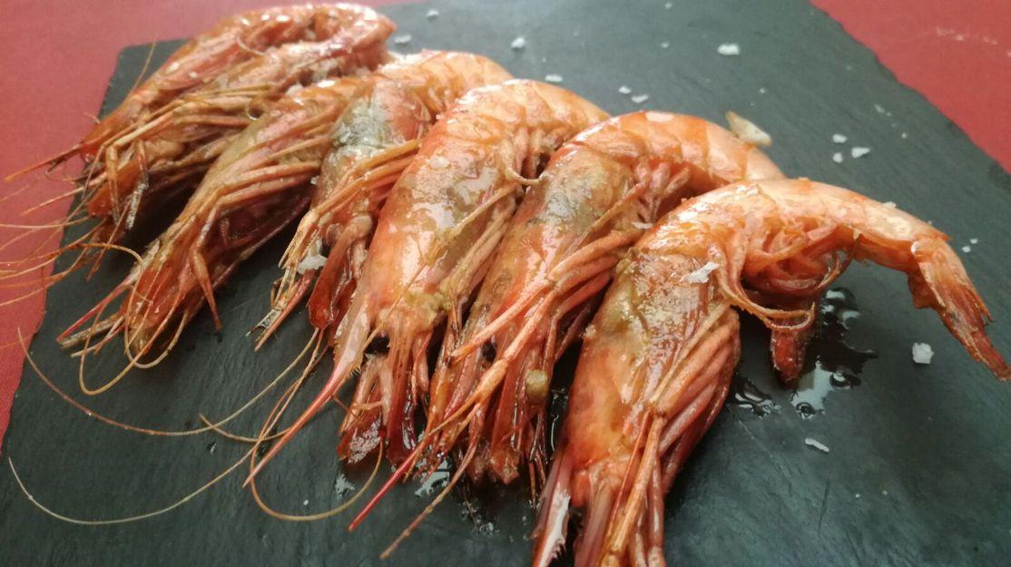 Gambas a la sal en Castelldefels