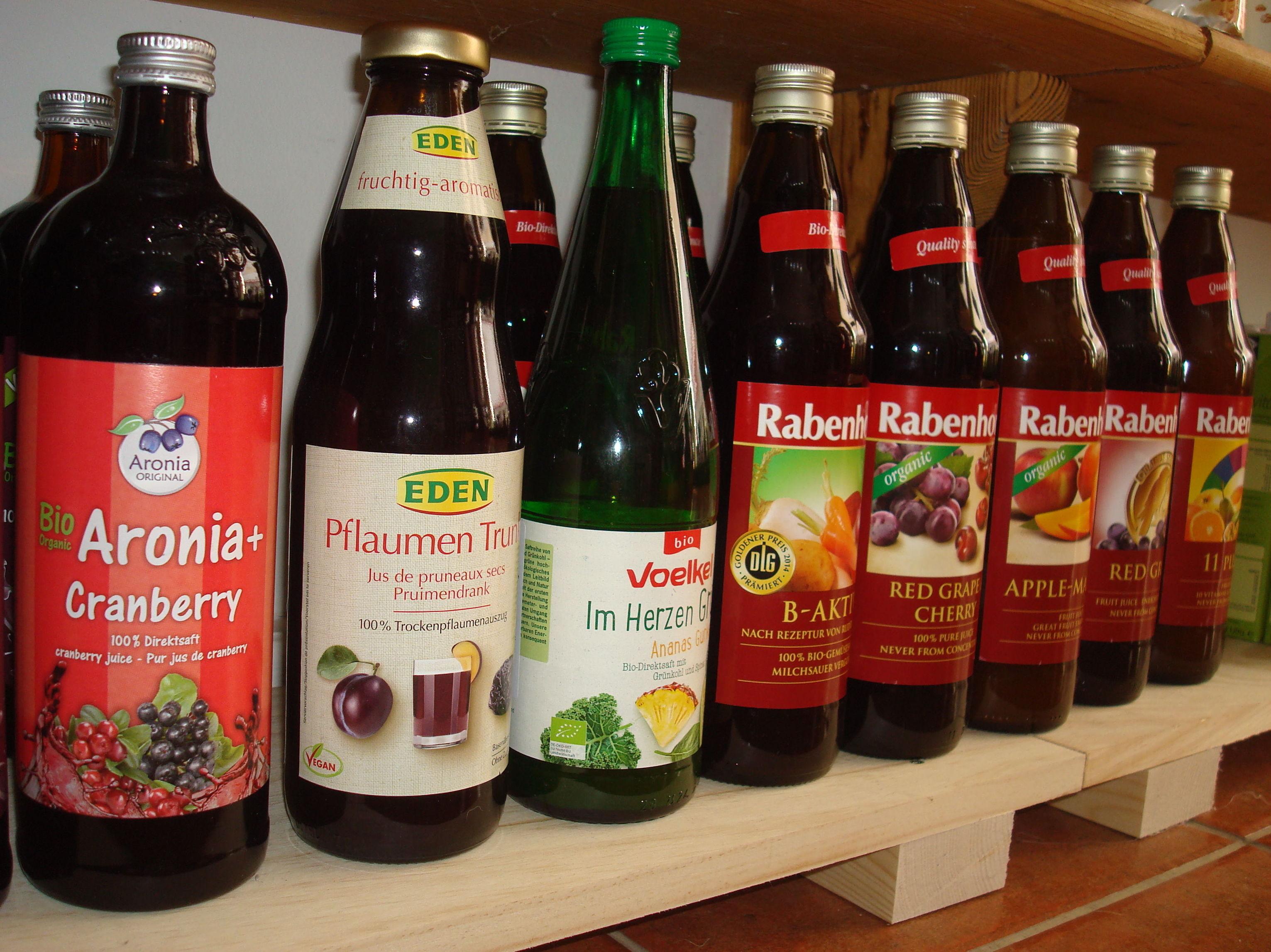 Gran variedad de zumos