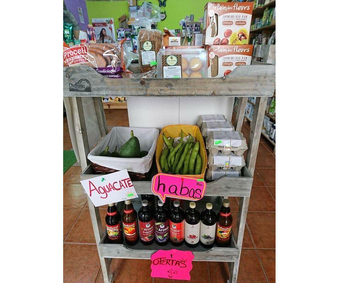 Productos ecológicos frescos en El Medano, Tenerife