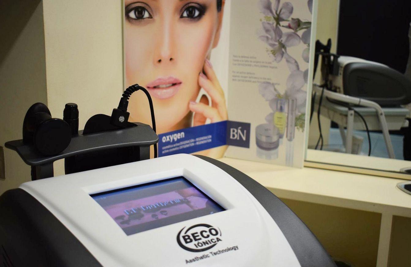 Centro con apararatología para tratamientos de belleza