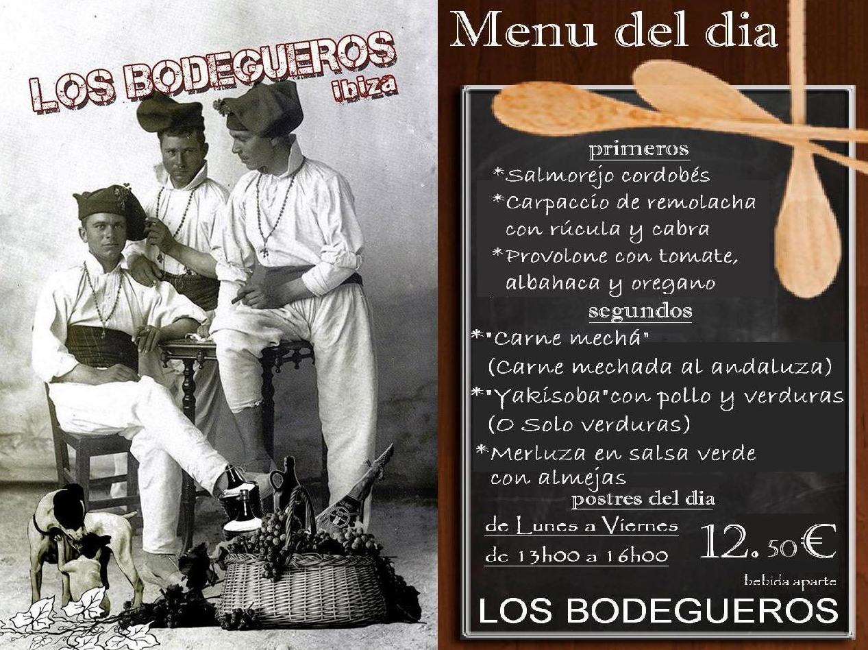 Nuevo menu del dia en Los Bodegueros