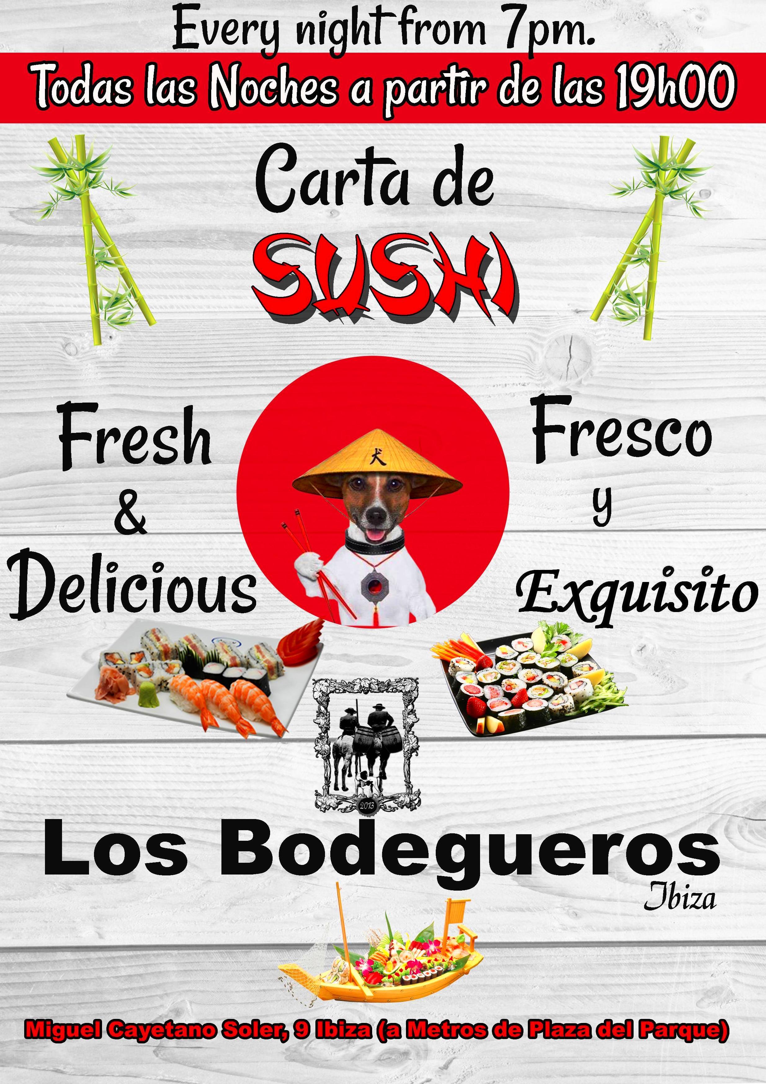 Nuestra carta de Sushi