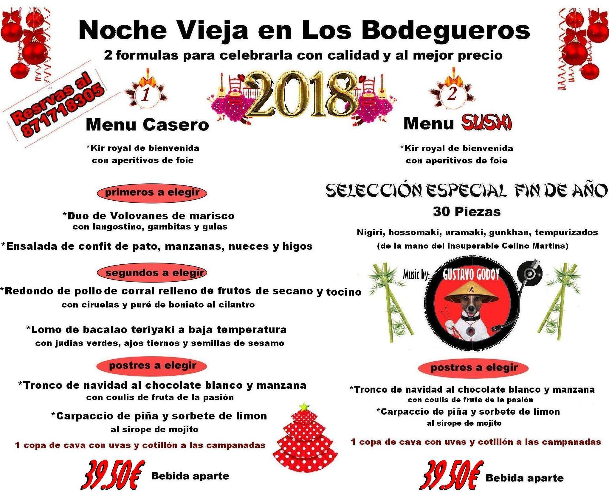 Menu de Noche vieja 2017/2018