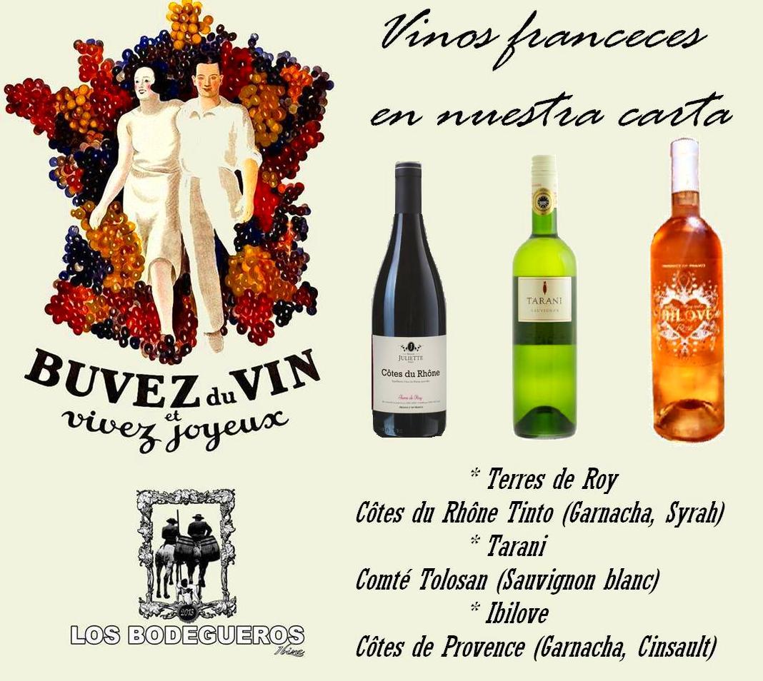 Ahora vinos y Champagne Franceses a la carta