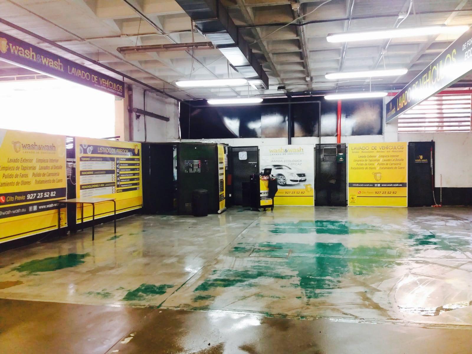 Instalaciones totalmente equipadas para el lavado de coches en Cáceres