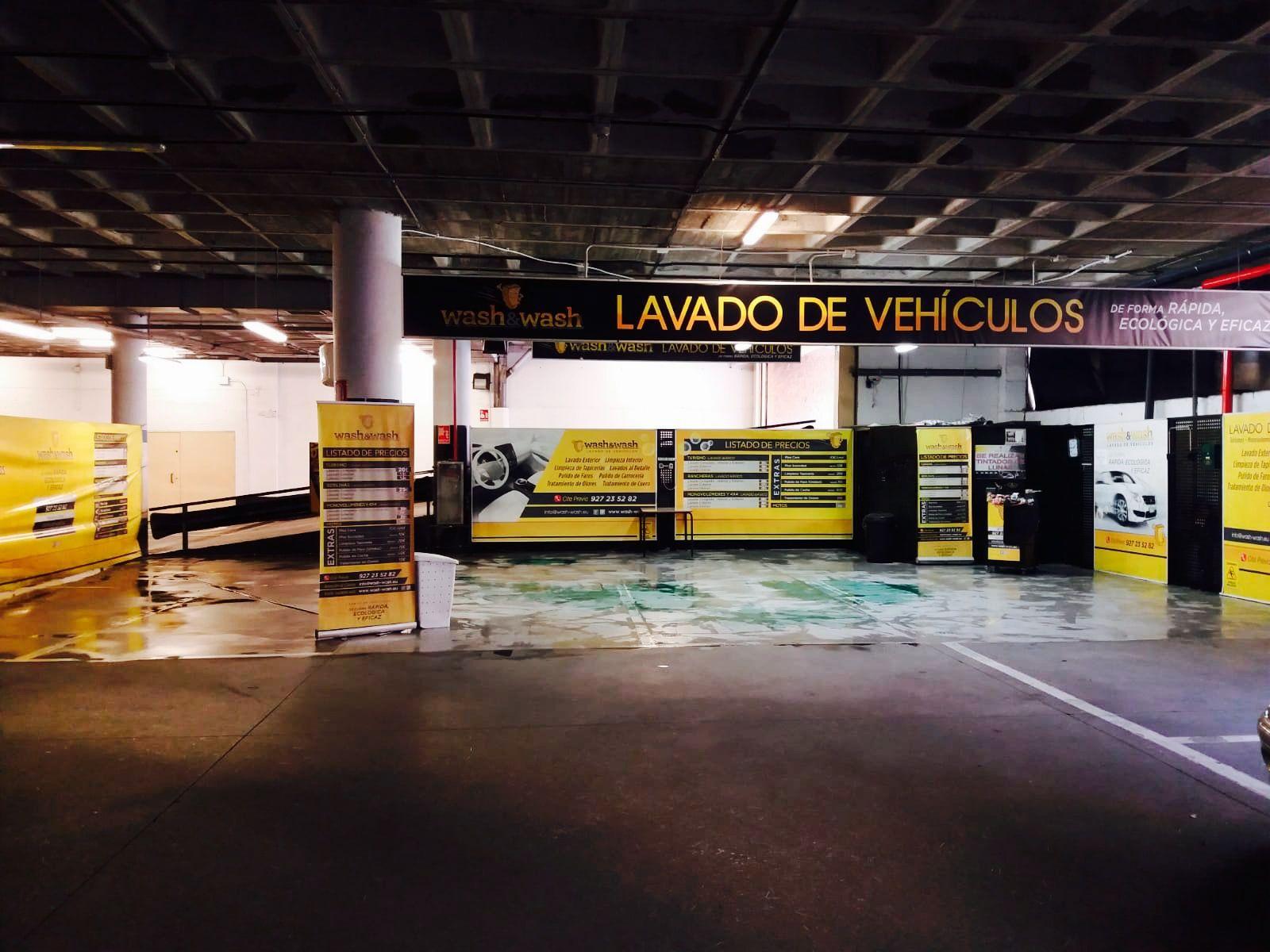 Lavado de cochesen Cáceres