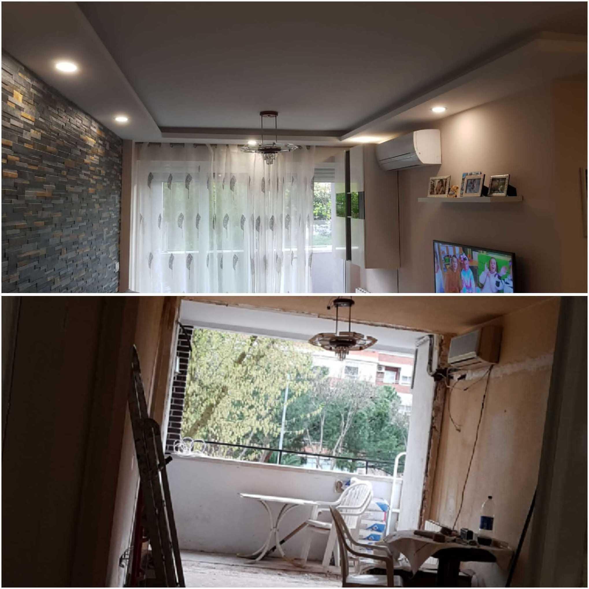 Antes y Después. Reforma de un salón.