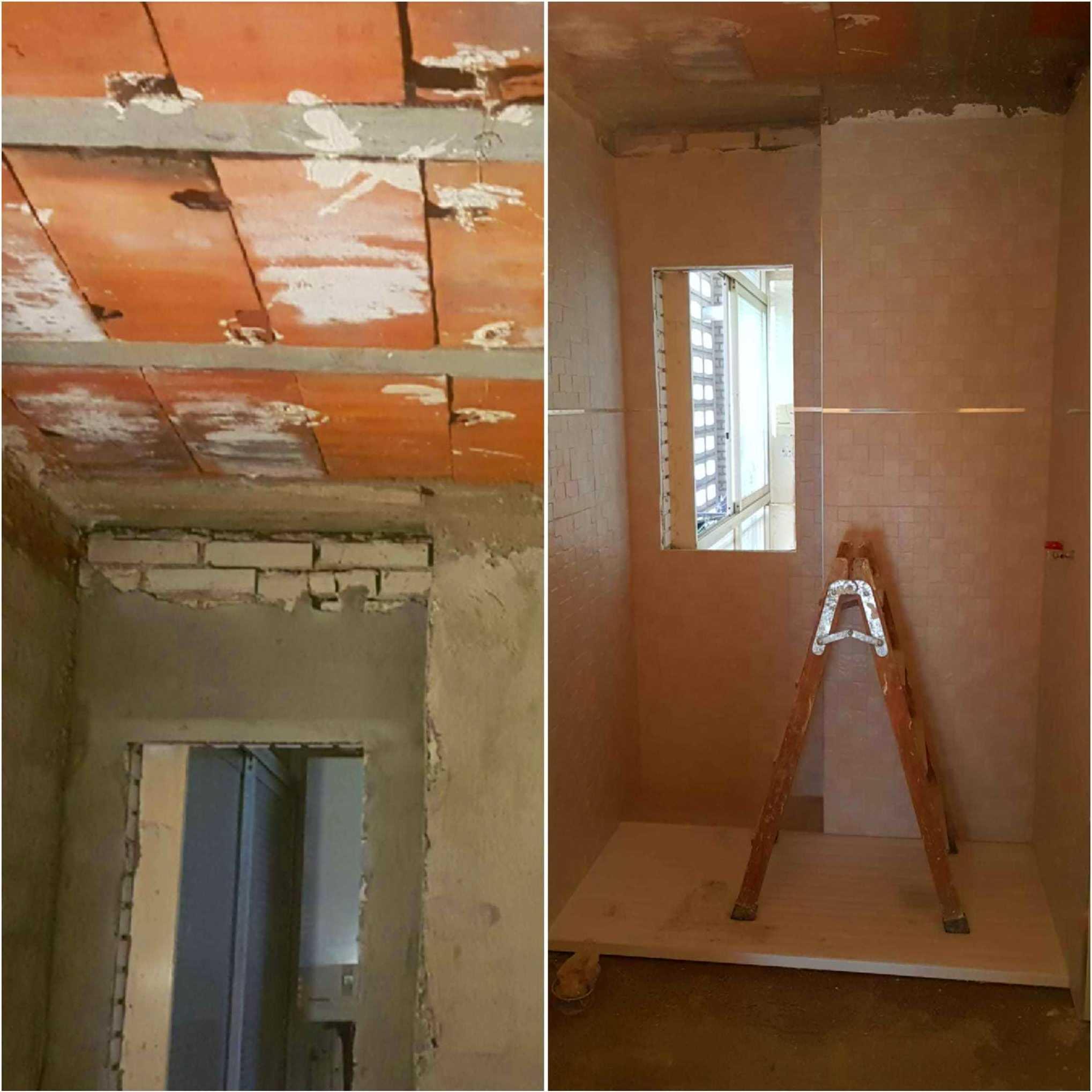 Reforma de un baño en un piso. Fuenlabrada.