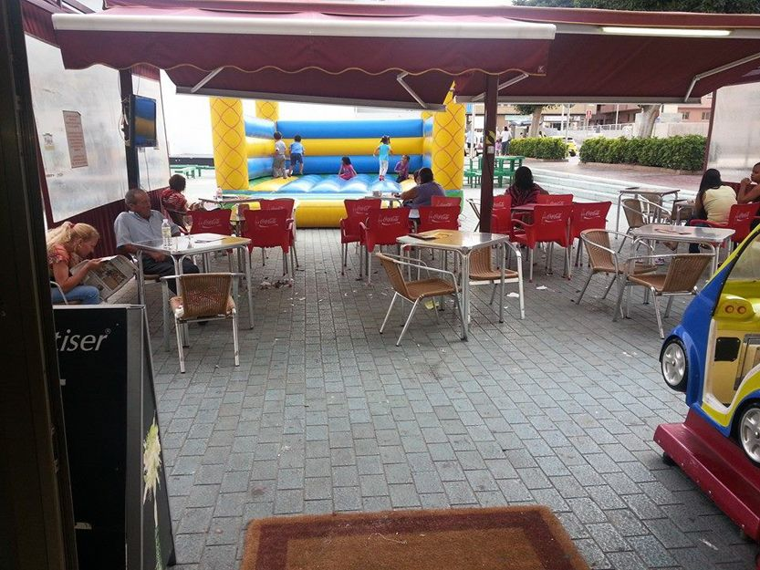 Nuestra terraza con zona infantil