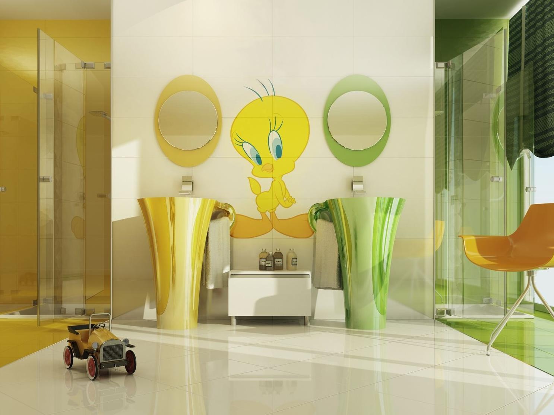 Ba os infantiles for Ideas para decorar banos infantiles