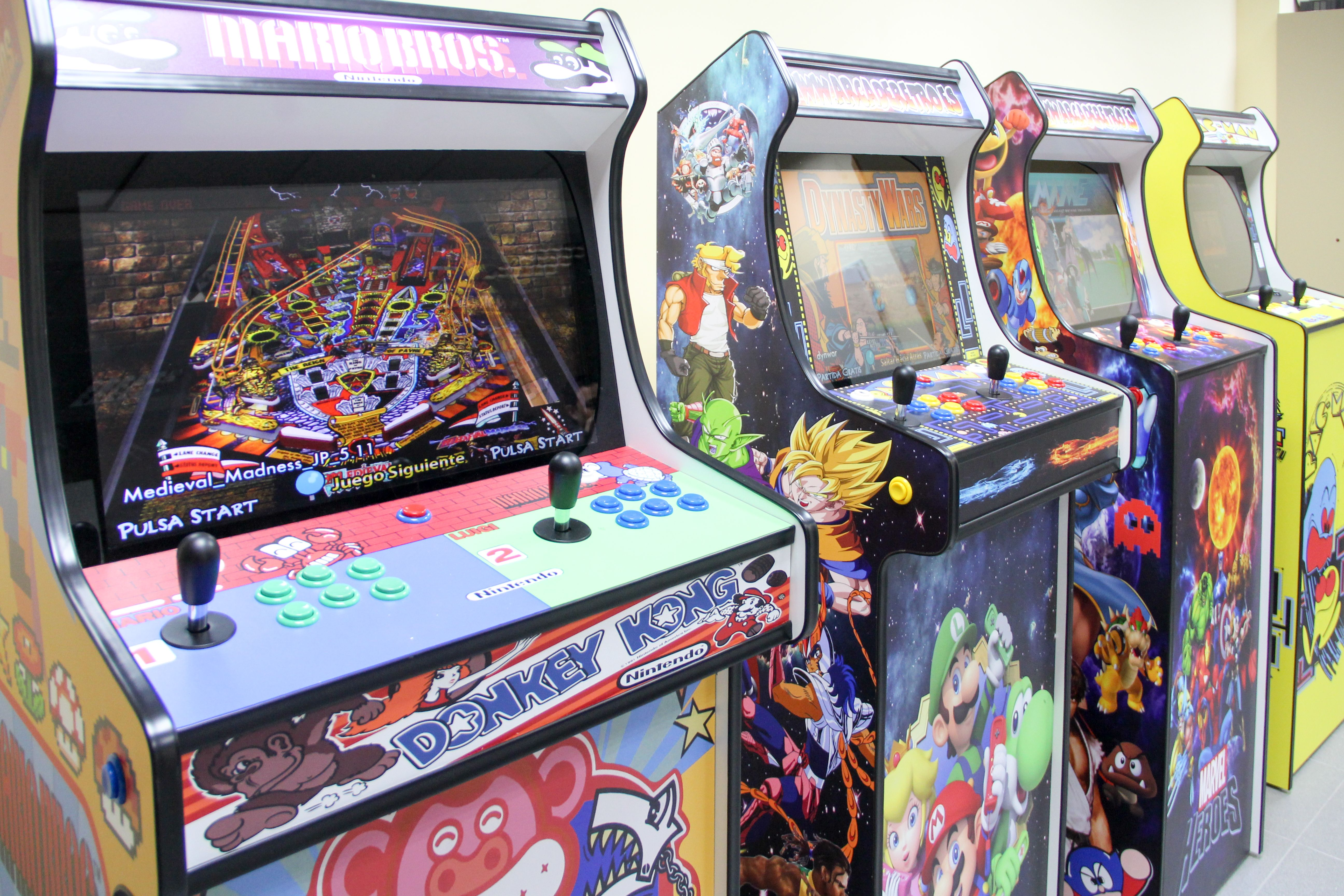 Máquinas recreativas arcade en Madrid