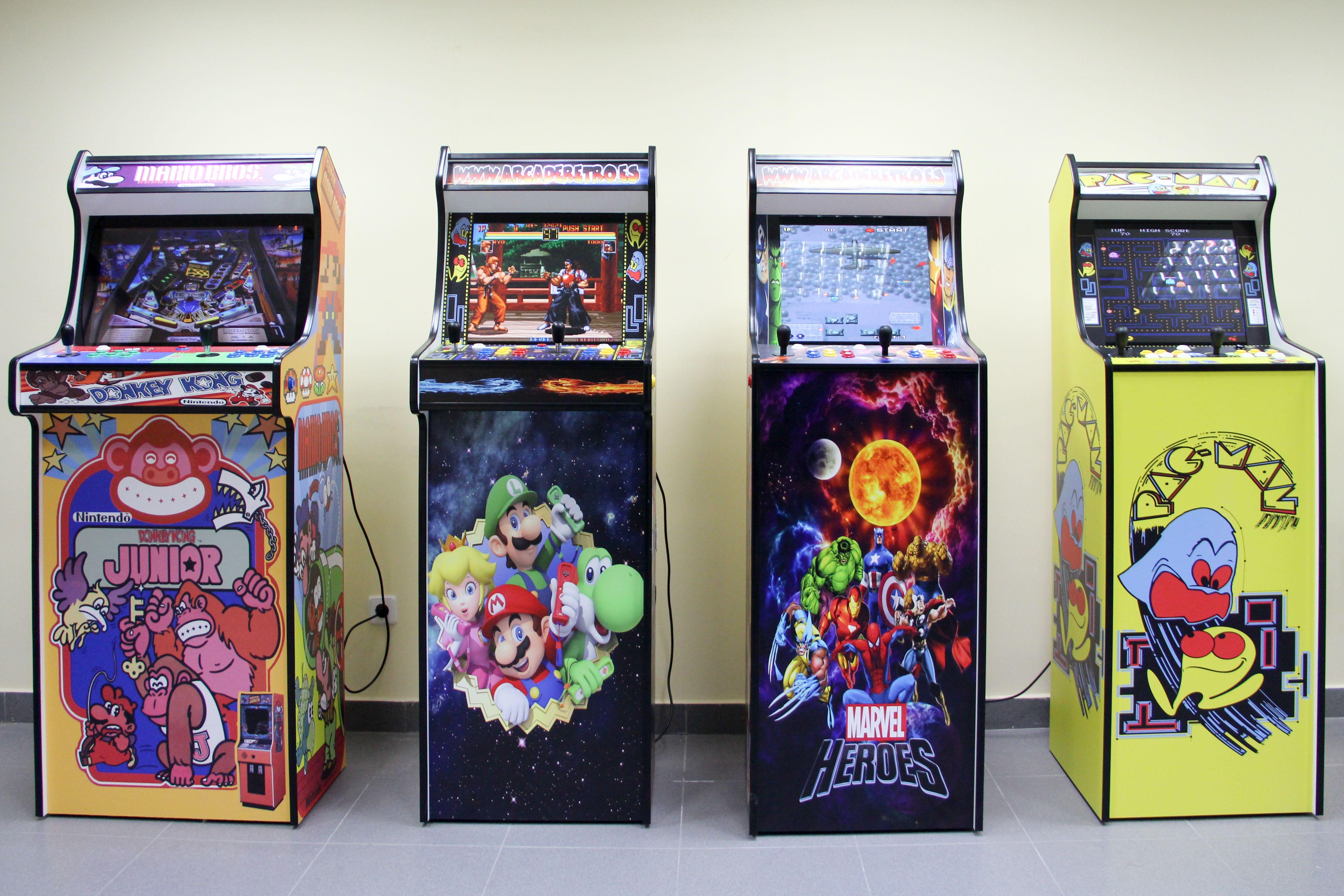 Todas nuestras máquinas son bajo pedido según demanda. Arcade Retro