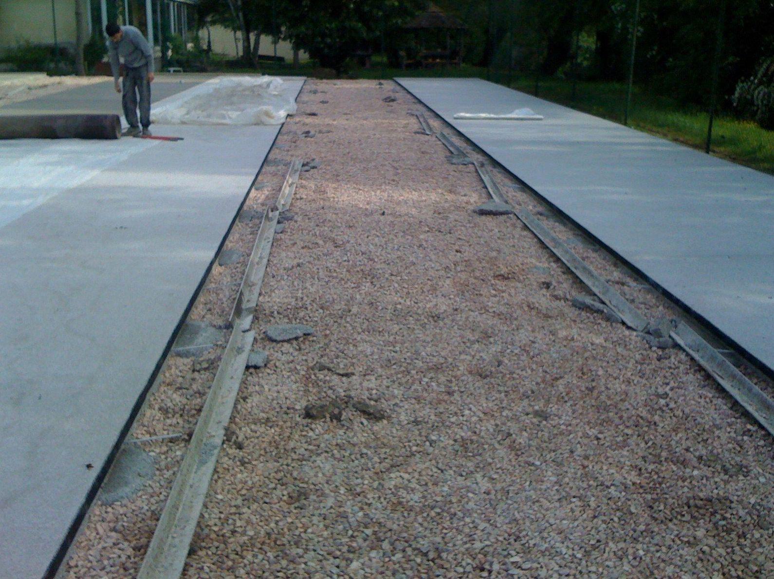 Construcción pavimento poroso DRY_QUICK alta permeabilidad, sin pendientes