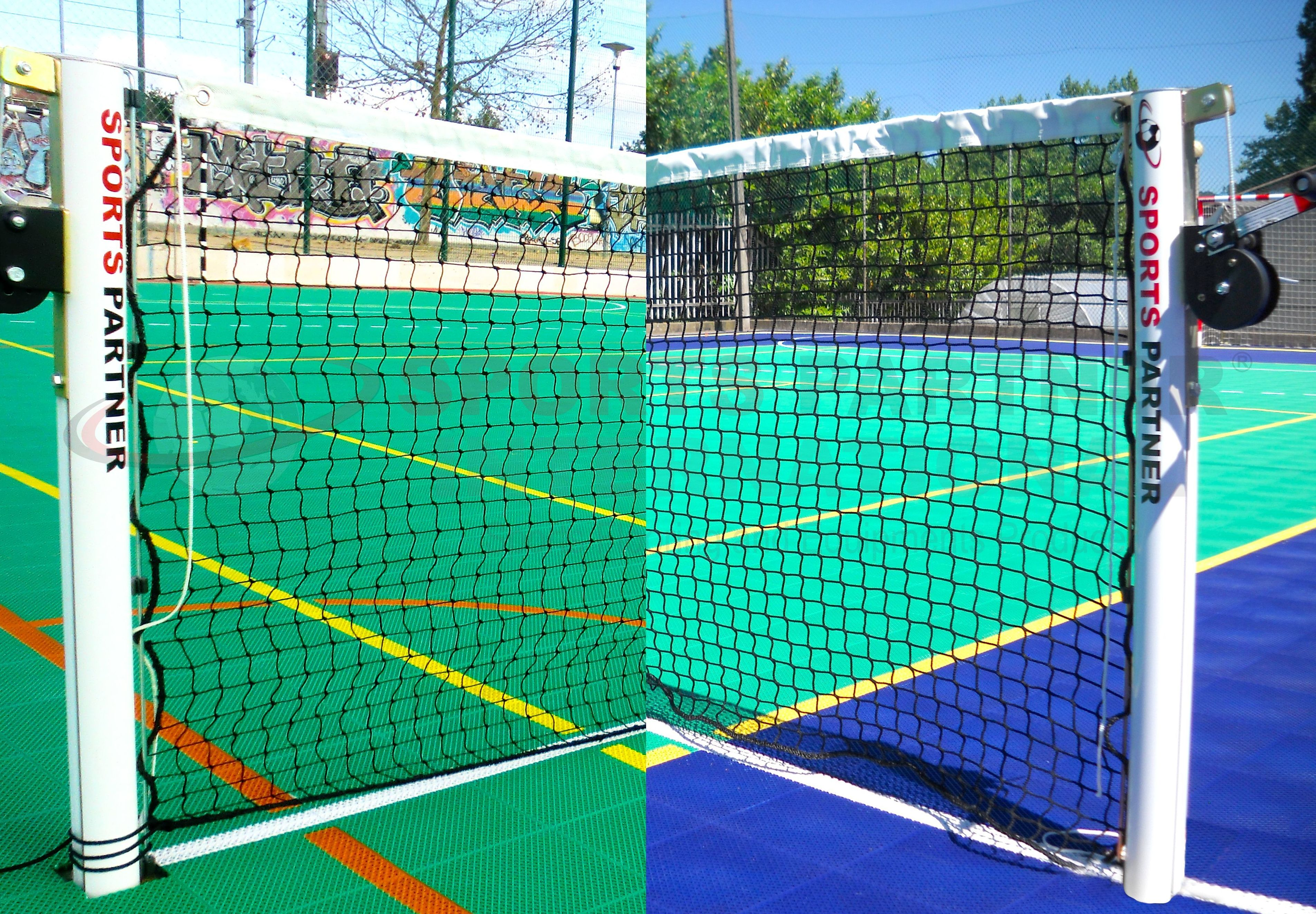 Equipamiento para la práctica del tenis y voley.