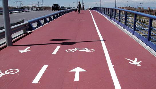 Slurry sintético para ciclovías