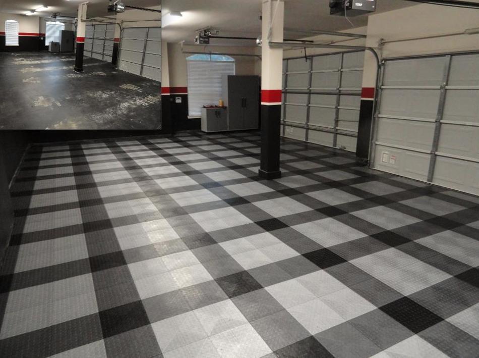 Pavimento desmontable industrial para talleres mecánicos. Alta durabilidad