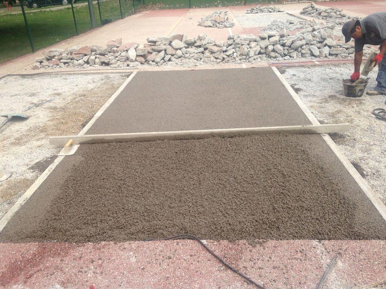 Pavimento drenante pavipor sistema Dry Quick equivalente a tennisquick