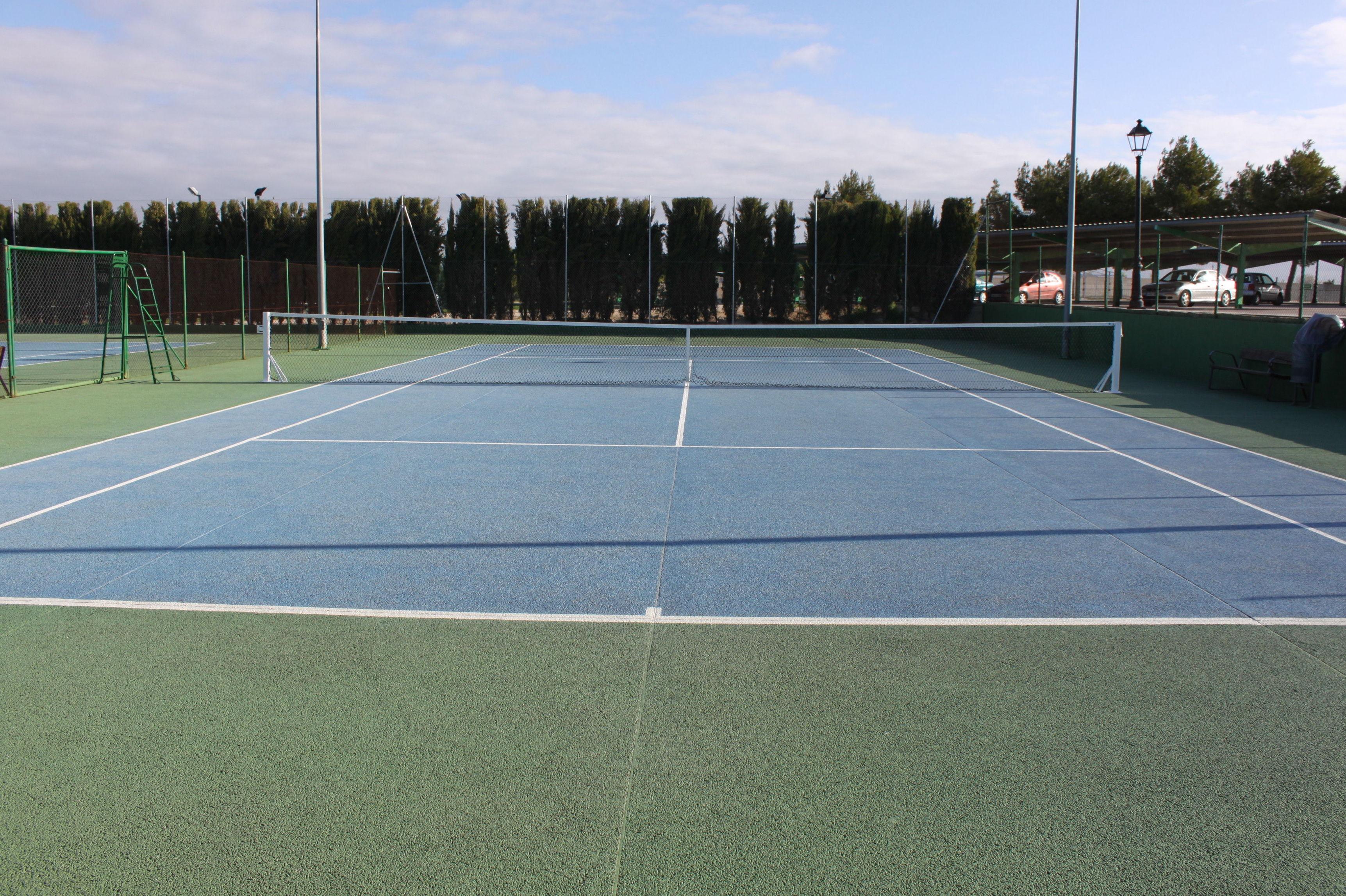 Construcción pista tenis