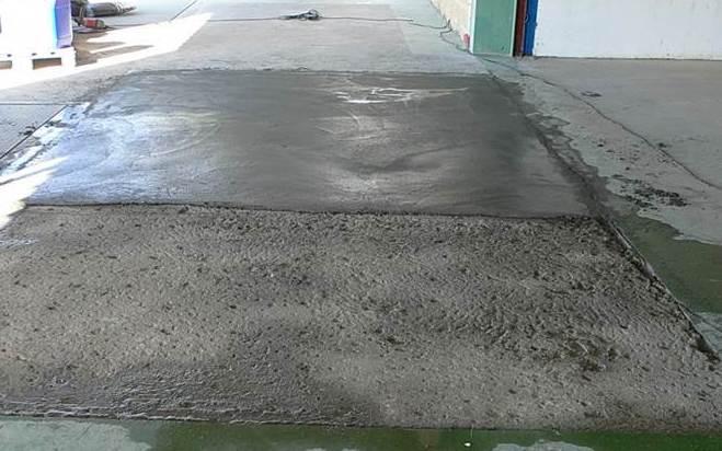 Reparación de muelle de carga de mortero cementoso, alta resistencia a los impactos