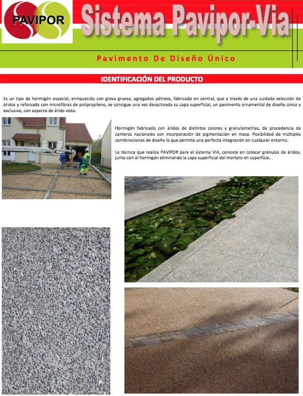 Pavimento decorativo de diseño exclusivo y único PAVIPOR-VIA: Productos y servicios de PAVIMENTOS PAVIPOR