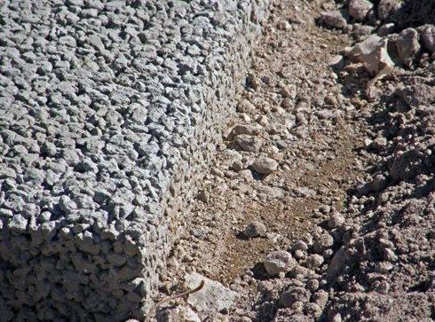 Detalle espesor hormigón poroso 9 cm