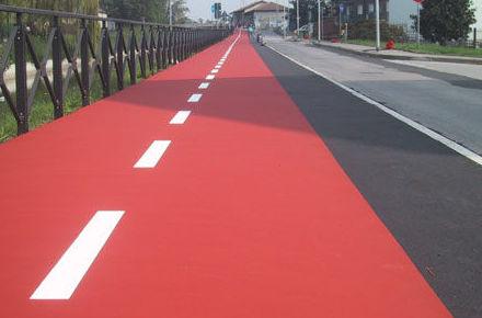 Pavimento PLASTYPARK para carril bici, ciclopistas