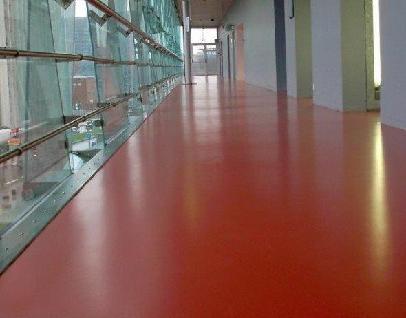 Pavimento para laboratorios, a base de resina epoxi decorativa