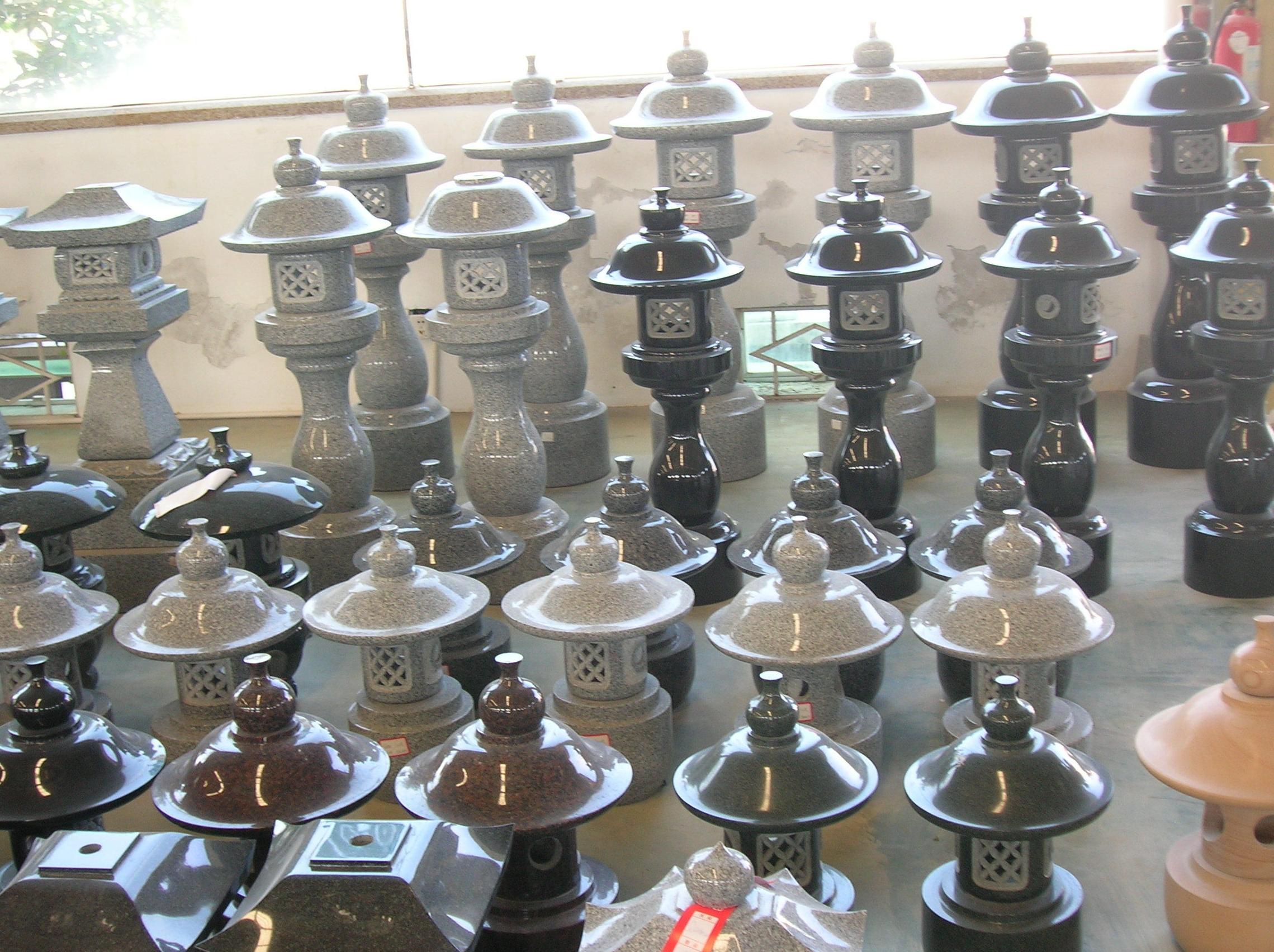 Lámparas de granito