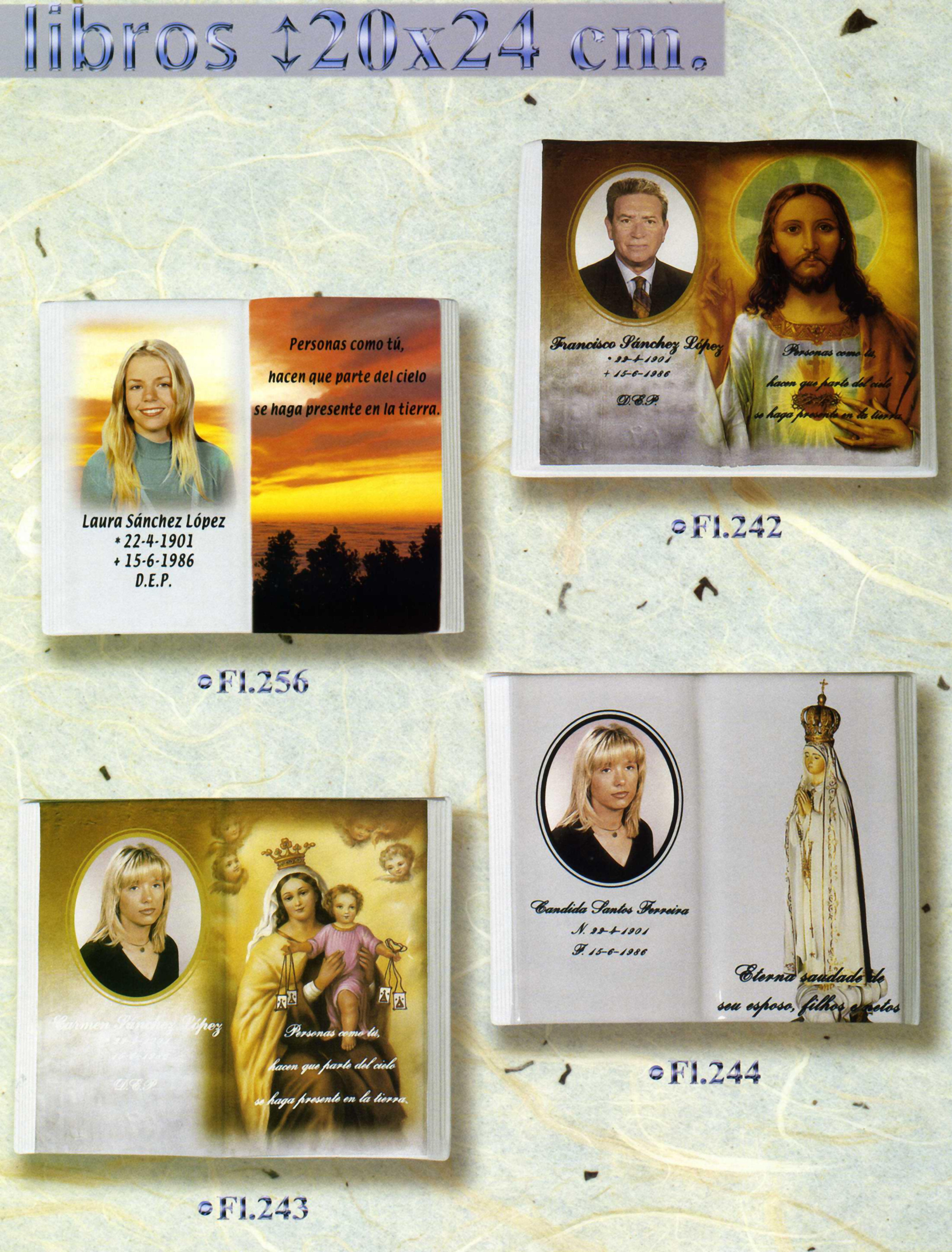 Libros con motivos y fotografía