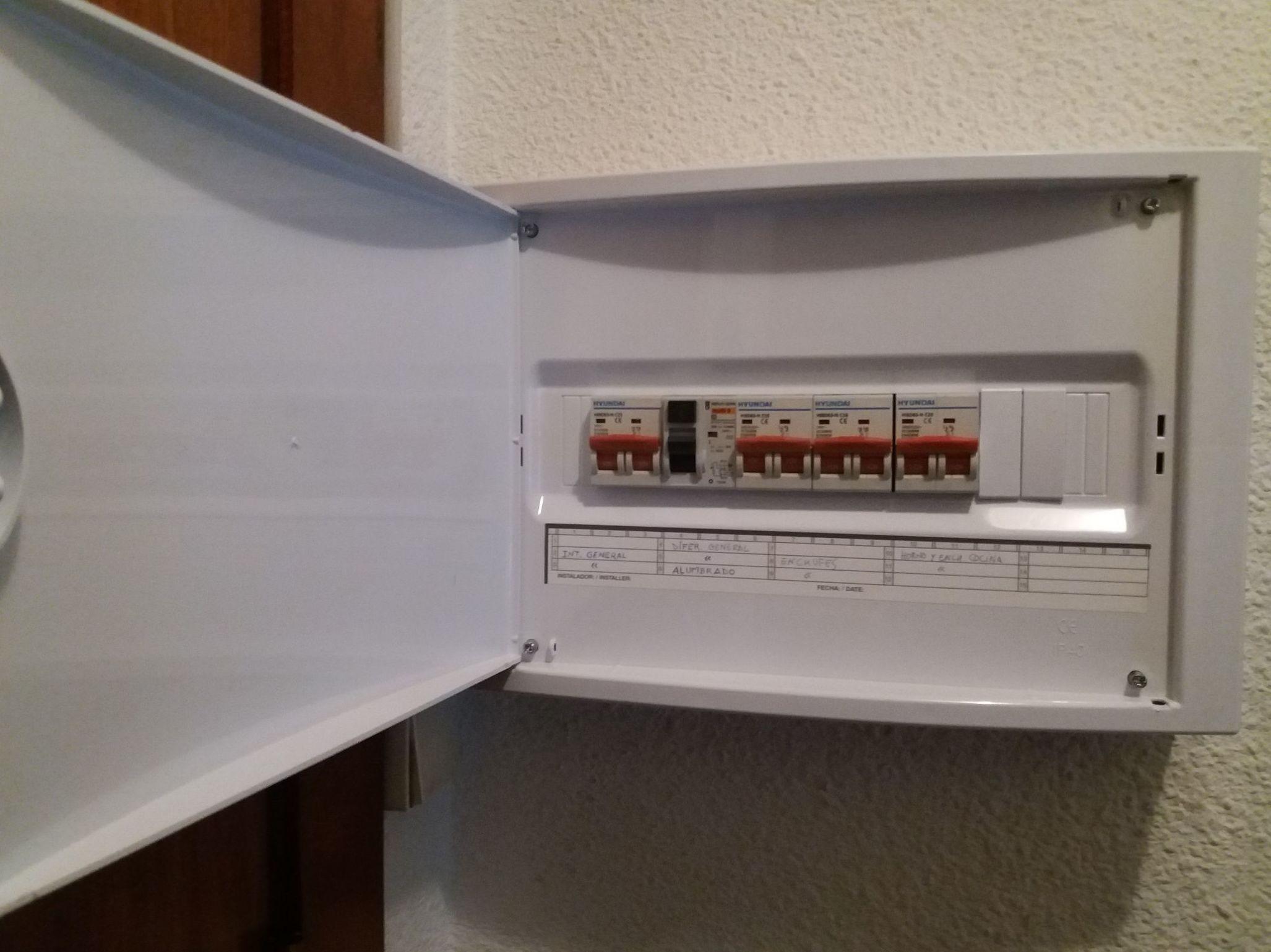 Instalación de cuadro eléctrico nuevo en vivienda en Murcia