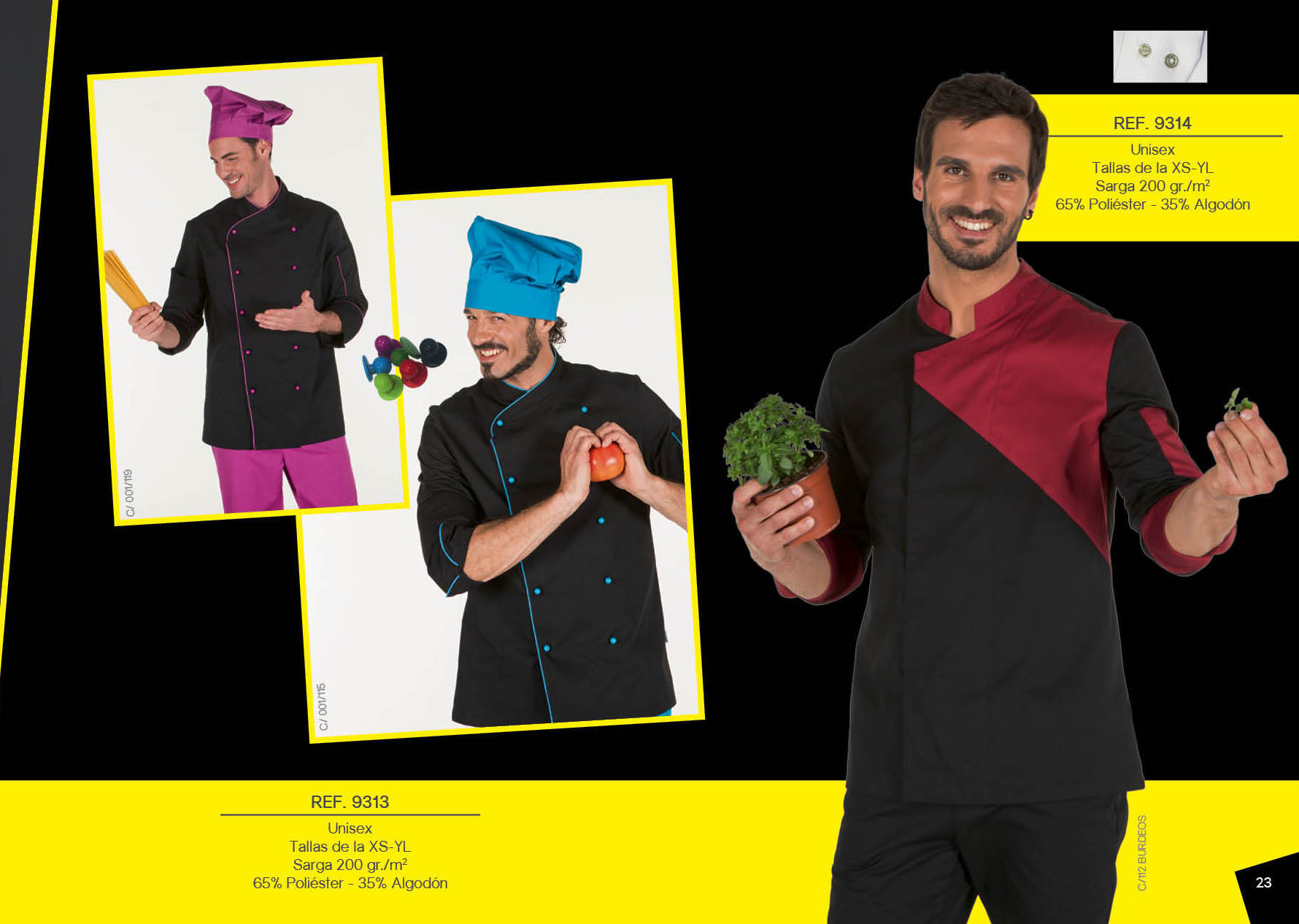 Chaqueta de cocina combinada 9313: Productos de Gamo Vestuario Laboral