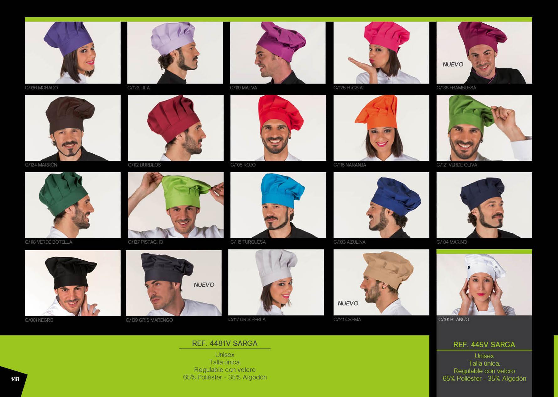 "Gorro Chef (tipo ""champiñón""): Productos de Gamo Vestuario Laboral"