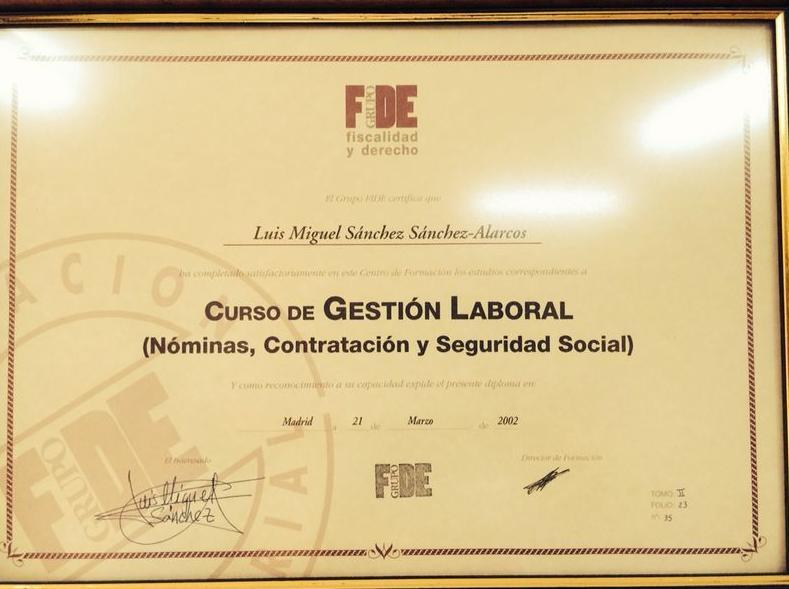 Curso de Gestión Laboral en Nóminas, Contratación y Seguridad Social