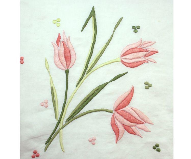 Bordado de flores