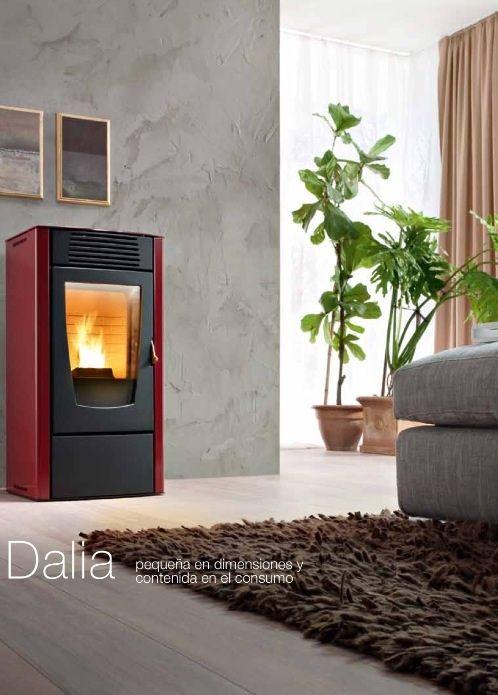 Estufa pellet Red Modelo Dalia 6 kW: Catálogo de Chimeneas Ferrol