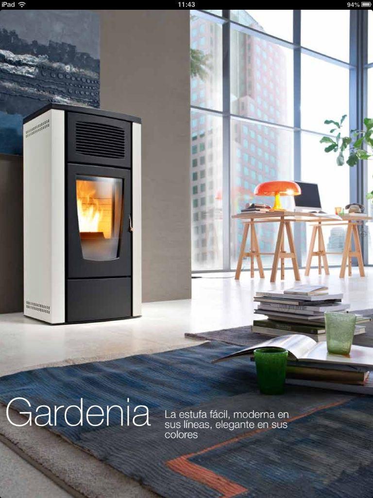 Estufa pellet Red Modelo Gardenia 8 kW: Catálogo de Chimeneas Ferrol