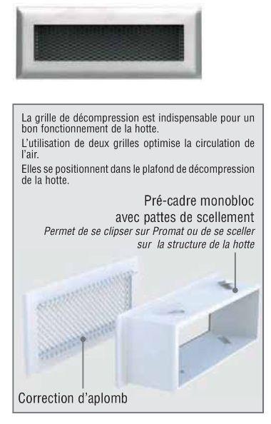 Rejilla con premarco blanca descompresión 180-70 mm: Catálogo de Chimeneas Ferrol