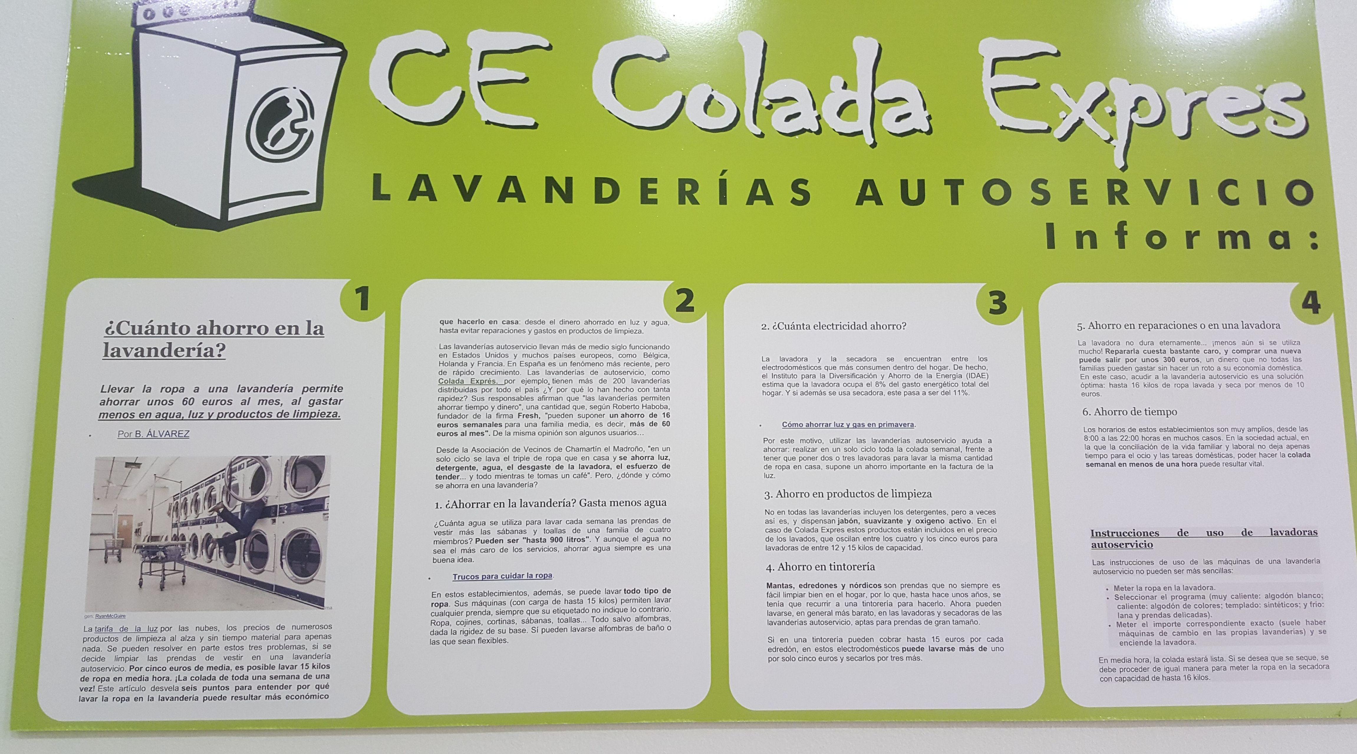 Foto 2 de Lavandería autoservicio en  | Lavandería Colada Expres Toledo
