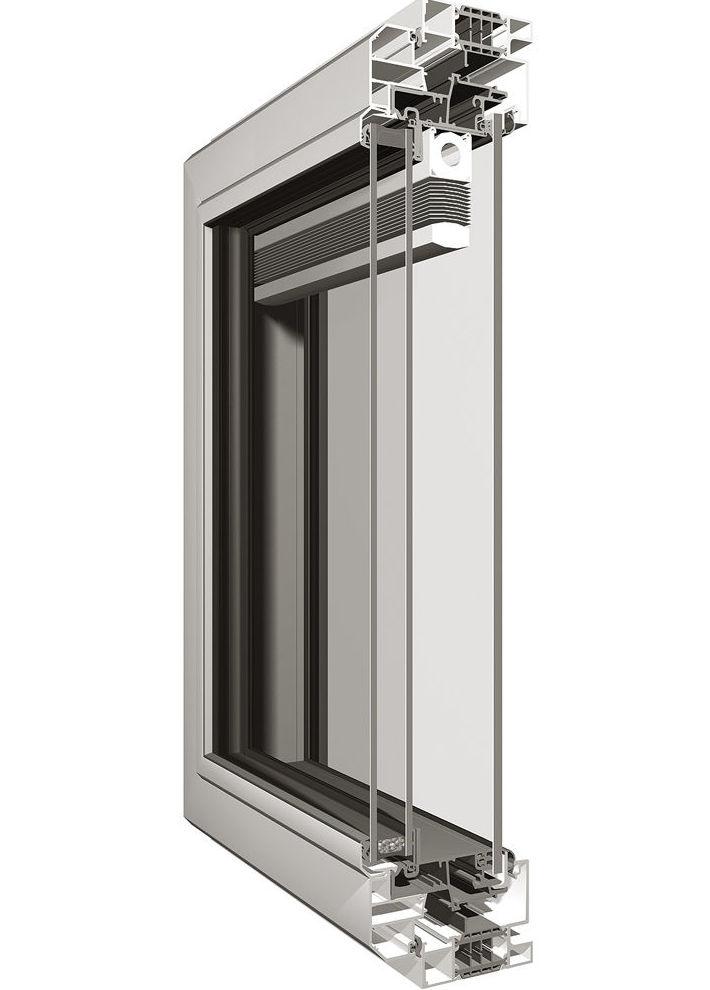 Ventana aluminio con rotura termica y veneciana integrada entre vidrios