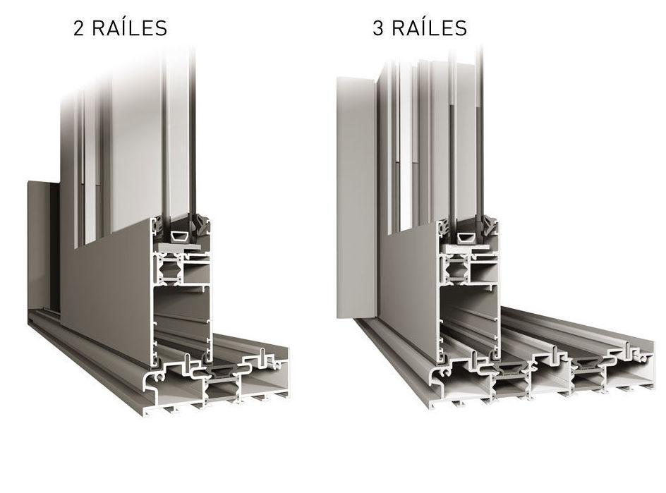 Ventanas aluminio correderas elevables con rotura de 2 y 3 carriles
