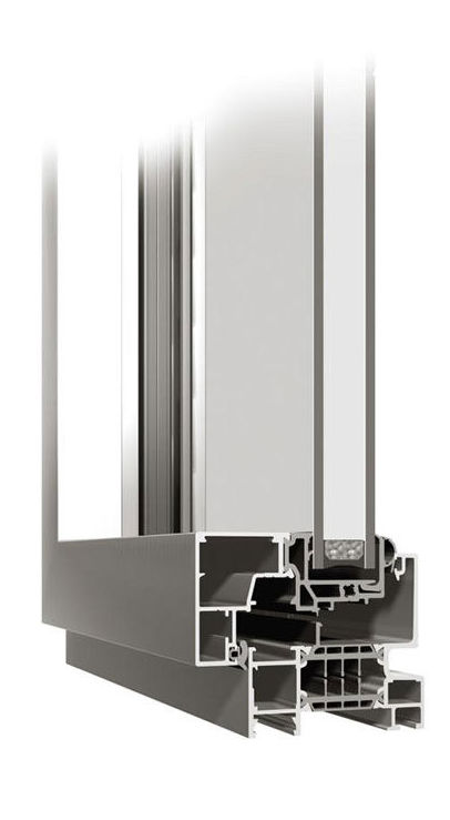 Ventana aluminio con rotura termica y hoja oculta K-Line
