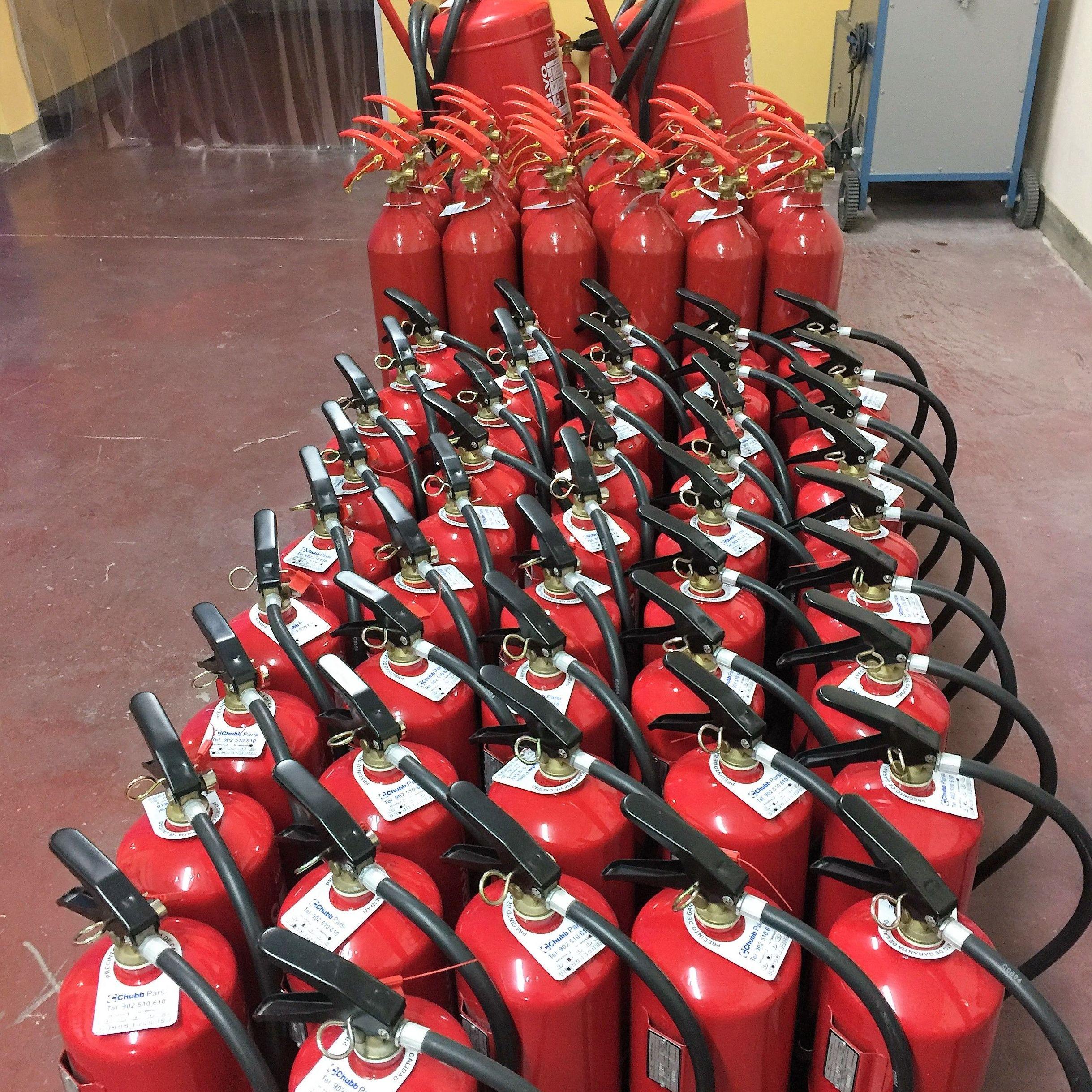 Recarga y retimbre de extintores en Lleida